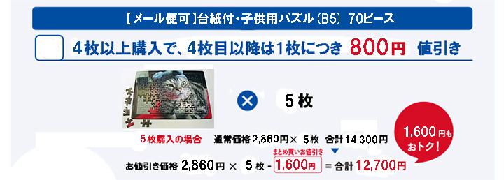 まとめ買いお値引き B5 70ピース