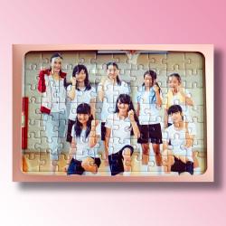 枠付・子供用パズル(B5) 70ピース+紙製フレーム(B5)+のりへらセット